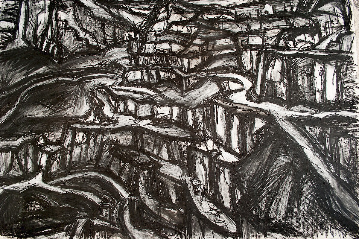 Charcoal quarry drawing (1978)