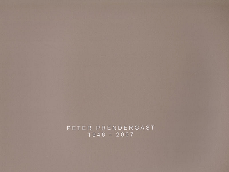 Peter Prendergast 1946 - 2007 Catalogue