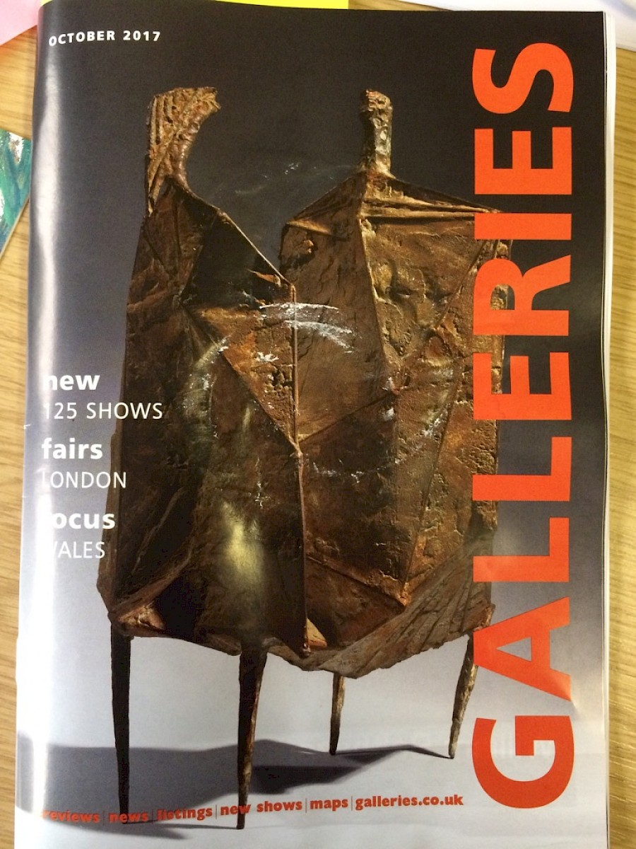 October issue of 'Galleries' publication